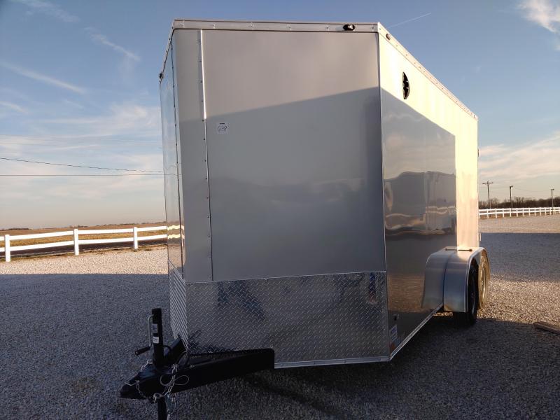 2021 Rhino 7x14 Rear Ramp Door Enclosed Trailer