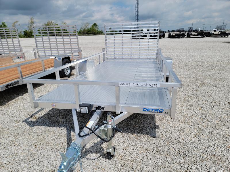 2021 Black Rhino 7x14 Aluminum Deck 3.5K Utility Trailer w/ Brakes