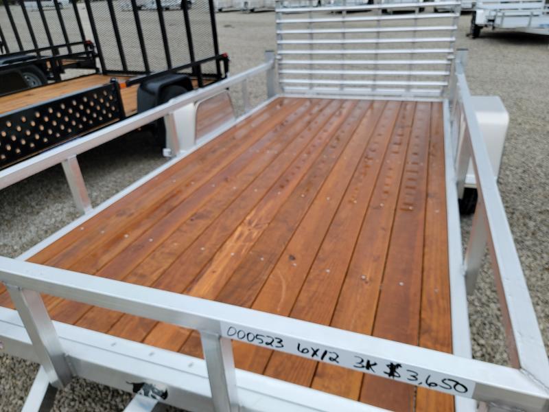2021 Black Rhino Aluminum Wood Deck 6x12 Utility Trailer