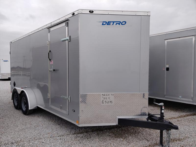 2020 Rhino Safari 7x16 Enclosed Ramp Door Trailer