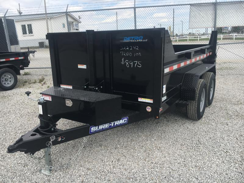 2021 Sure-Trac 6x10 SD Telescopic Low Profile 10K Dump Trailer