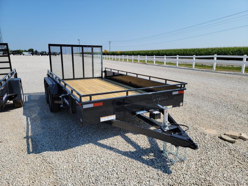 2021 Sure-Trac 7x14 Steel High Side 7K Tandem Trailer