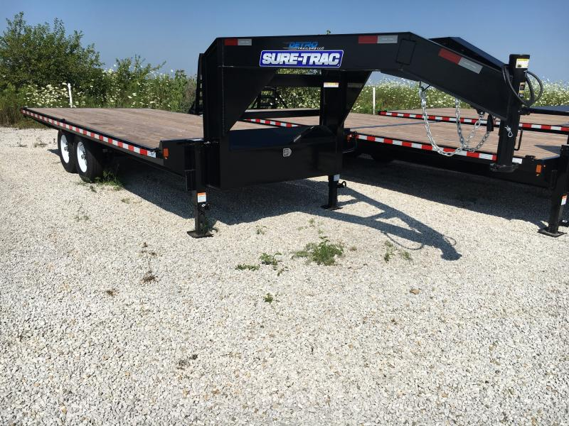 2019 Sure-Trac 8.5X20 Std Duty 15K Flatbed GN Deckover NO RAMPS