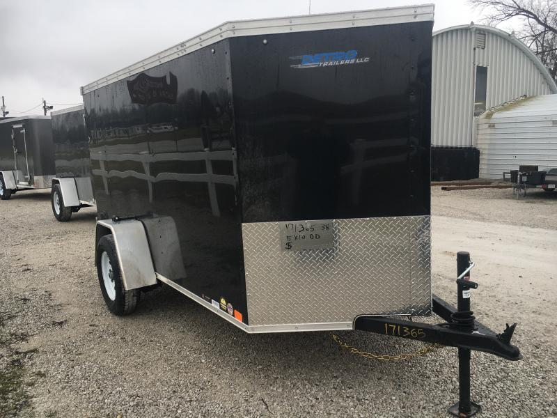2020 United Trailers 5X10 Enclosed Swing Door Trailer