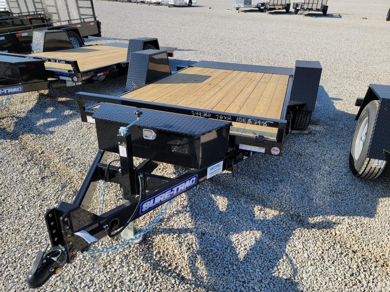 2022 Sure-Trac 78x12 10K Single Axle Tilt Bed Equipment