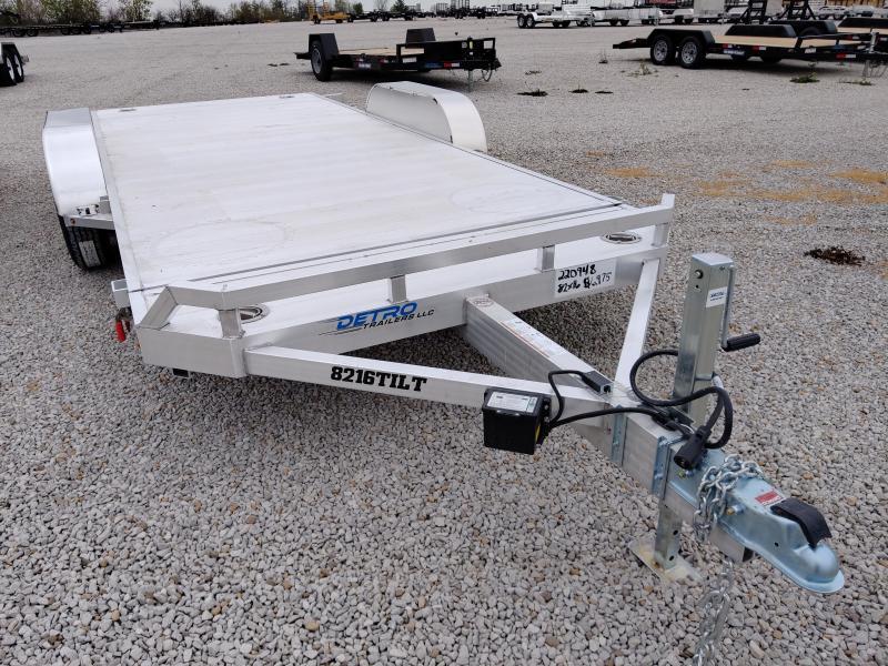 2021 Aluma 82X16 Utility Trailer Tilt Deck