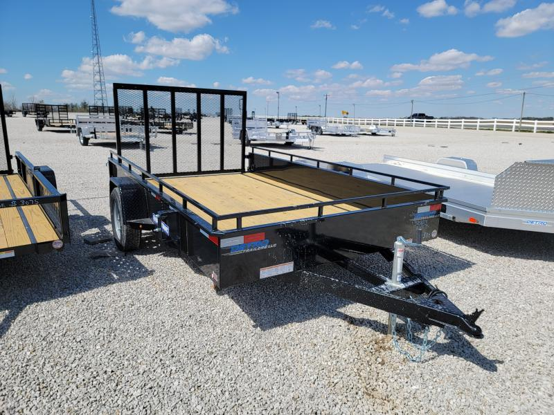 2021 Sure-Trac 7x12 Steel High Side 3K Utility Trailer