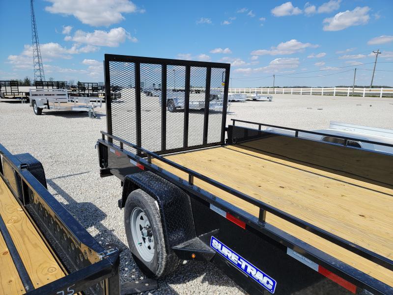 2021 Sure-Trac 7x12 Steel High Side 3K Utility Trailer