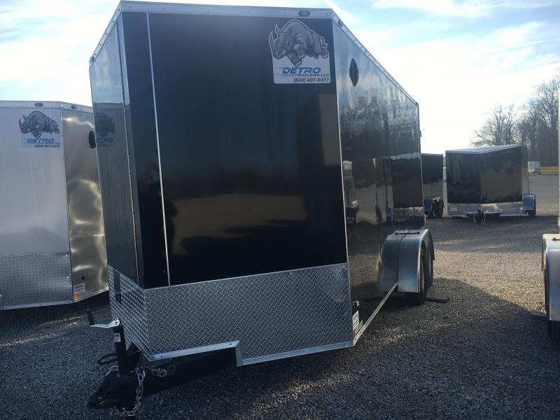 2021 Rhino 7x16 Double Rear Doors Enclosed Trailer