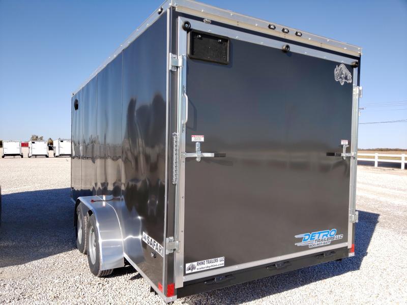 2020 Rhino Trailers 7X16 SAFARI Enclosed Ramp Door 7K Trailer