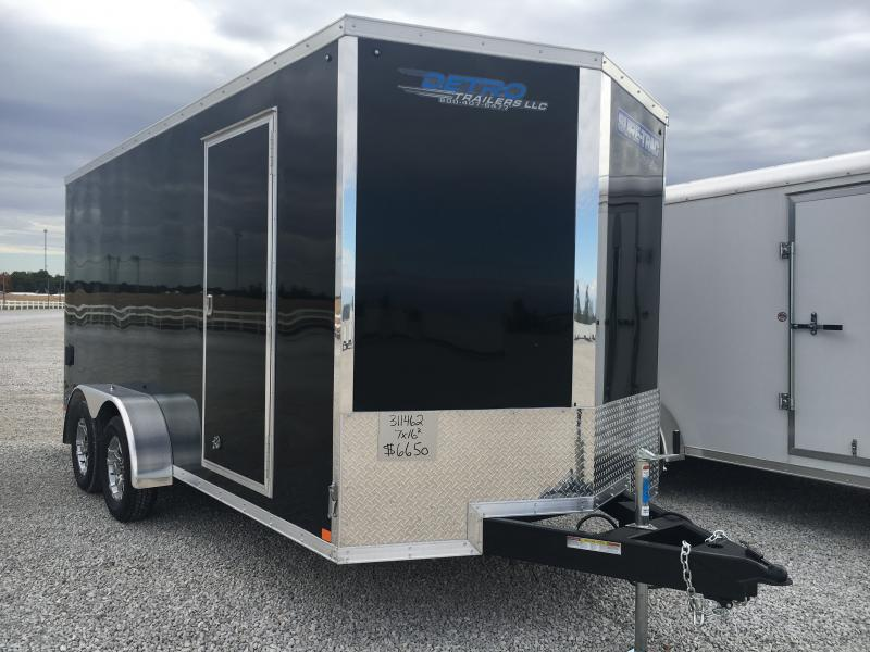 2021 Sure-Trac 7x16 Pro Series Enclosed Wedge Ramp Door Trailer