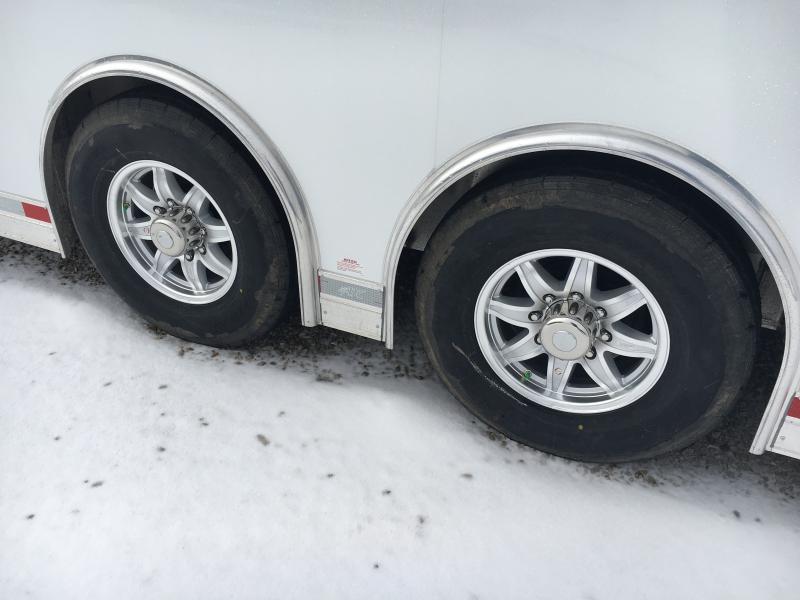 2019 ATC 8.5X28 White Aluminum Car/Racing Trailer
