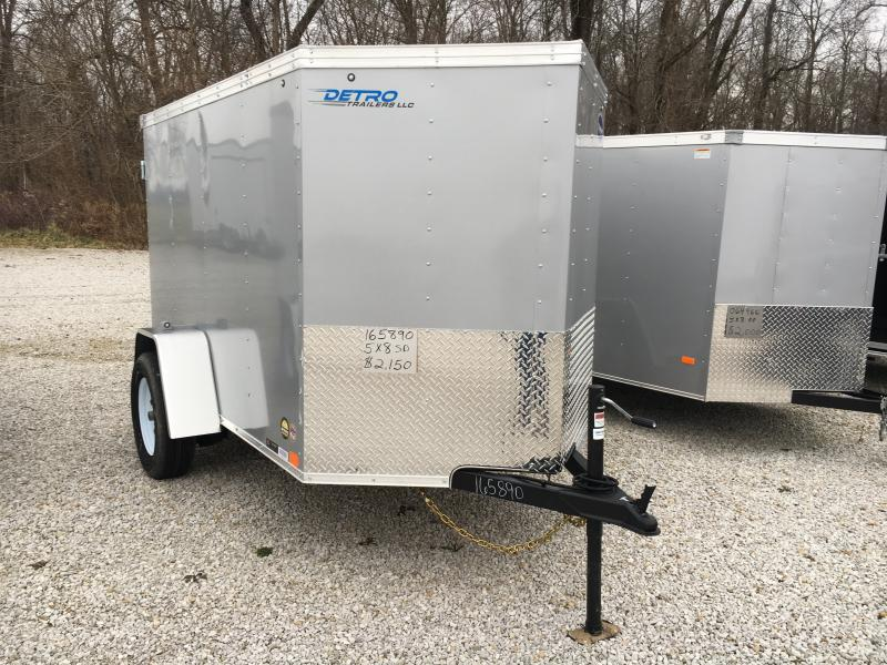 2019 United 5X8 Enclosed Double Rear Door Trailer