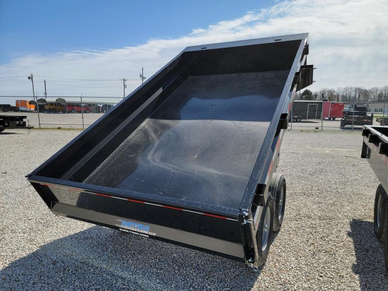 2021 Sure-Trac 6x10 SD Deckover Dump Trailer 10K Single Ram