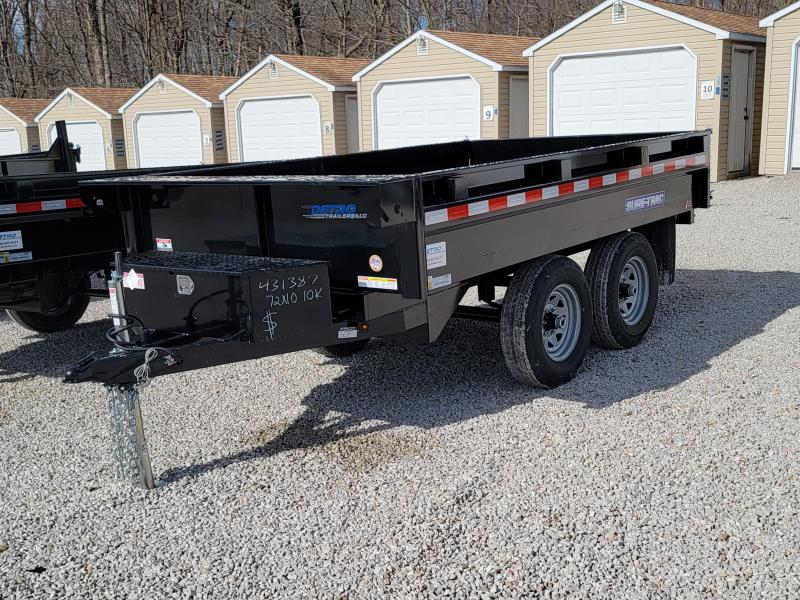 2021 Sure-Trac 6x10 SD Deckover Dump Trailer 10K Single Ram