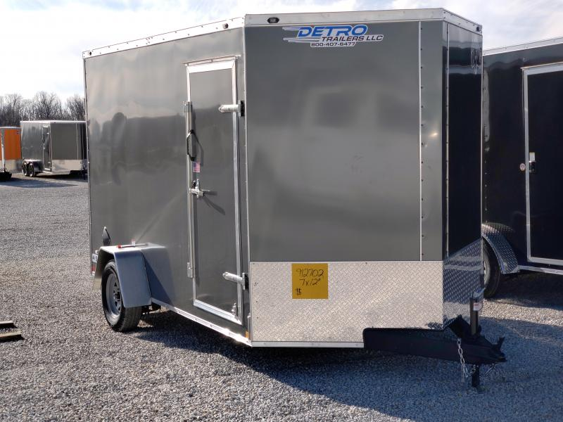2021 Rhino 7x12 Ramp Door 3K UTV Enclosed Trailer