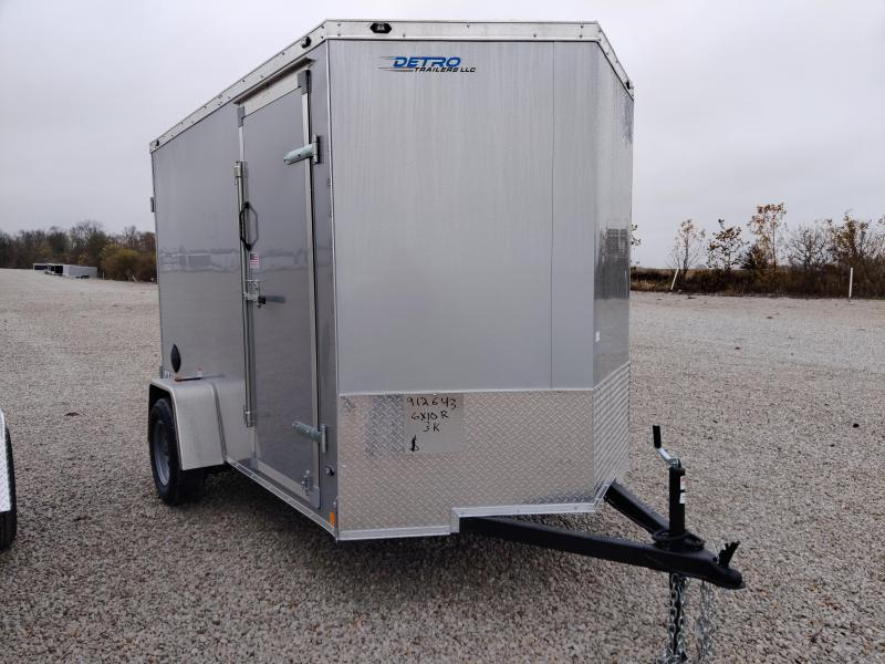 2021 Rhino 6x10 Safari Enclosed Ramp Door Trailer