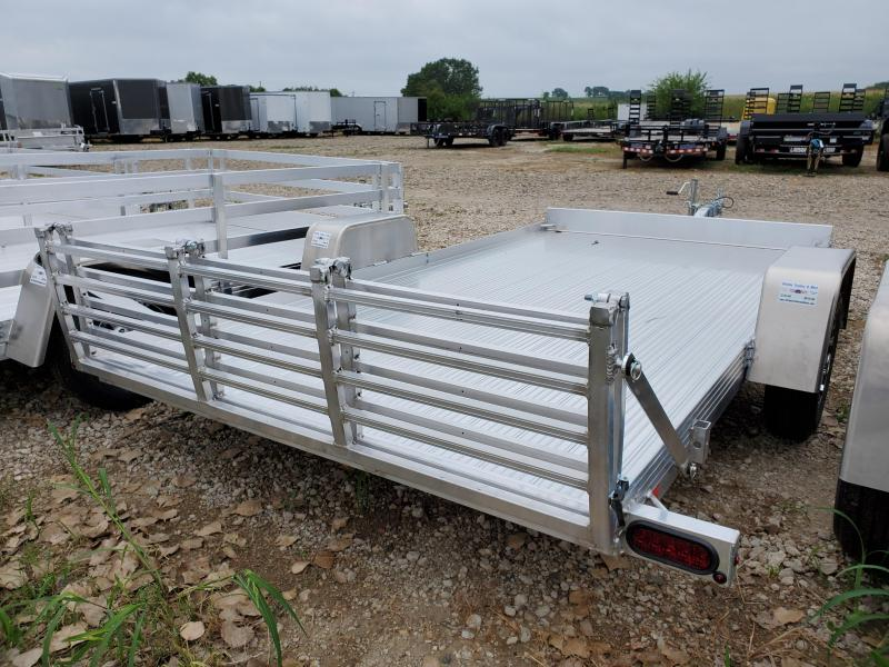 2021 Bear Track 72x12 Single Axle Aluminum Utility Trailer