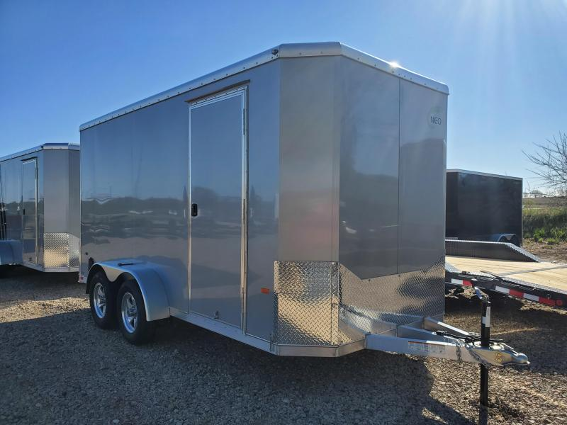 2021 NEO Trailers 7x14 Tandem Axle Aluminum Enclosed Cargo Trailer