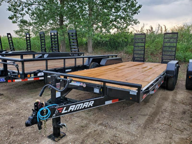 2020 Lamar Trailers 83x20 Tandem Axle Carhauler Equipment Trailer