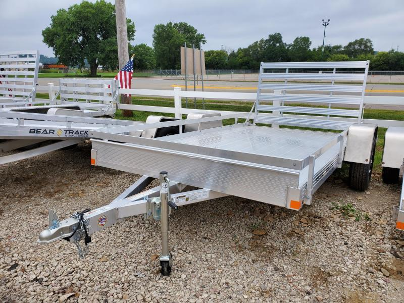 2021 Bear Track 76x12 Single Axle Aluminum Utility Trailer