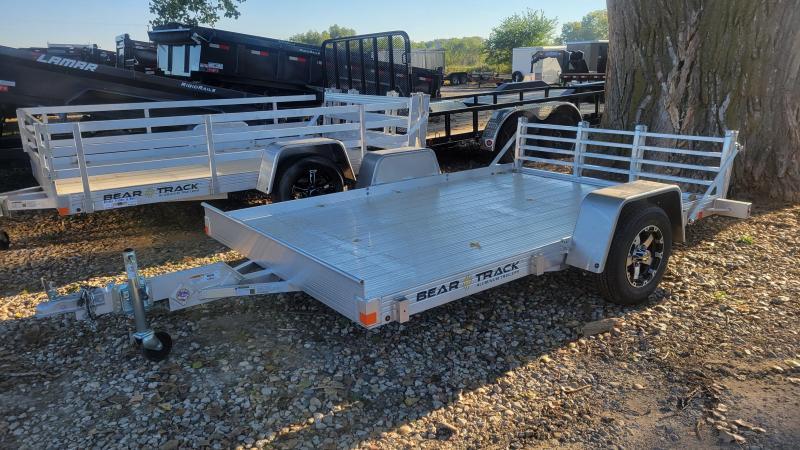 2022 Bear Track 76x10 Single Axle Aluminum Utility Trailer