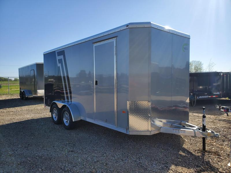 2021 NEO Trailers 7x16 Tandem Axle Aluminum Enclosed Cargo Trailer