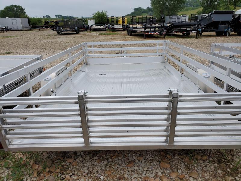 2021 Bear Track 82x12 Single Axle Aluminum Utility Trailer