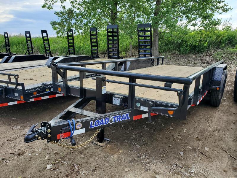 2020 Load Trail 83x18 Tandem Axle Carhauler Equipment Trailer