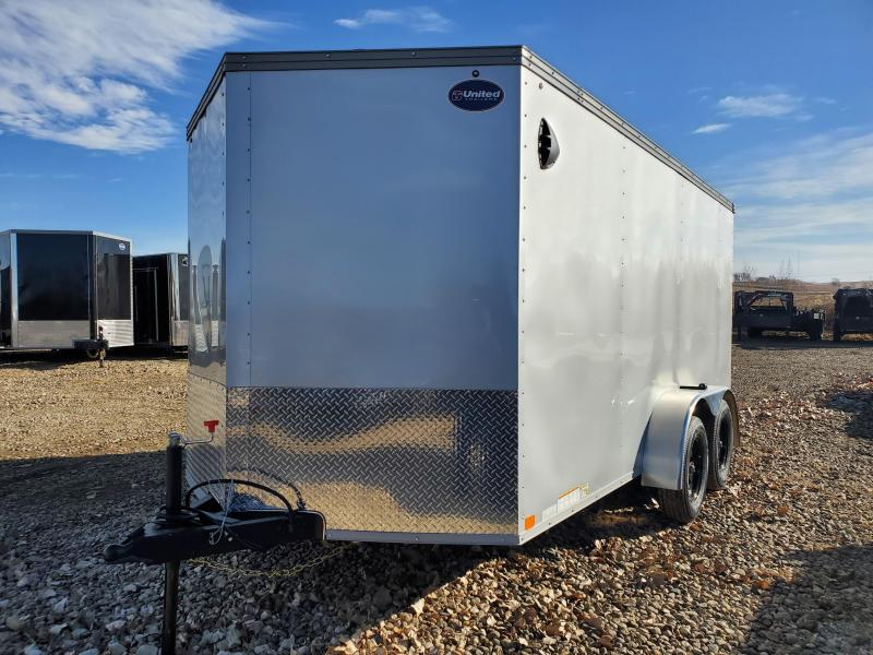 2021 United Trailers 7X14 UNITED TANDEM BRAKE AXLE Enclosed Cargo Trailer