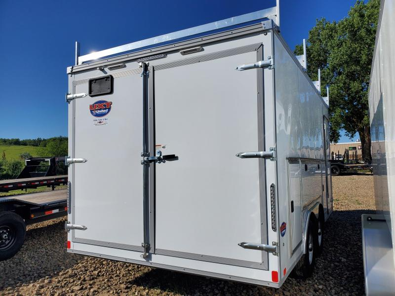 2021 United Trailers 8.5x16 Tandem Axle Contractor Enclosed Cargo Trailer