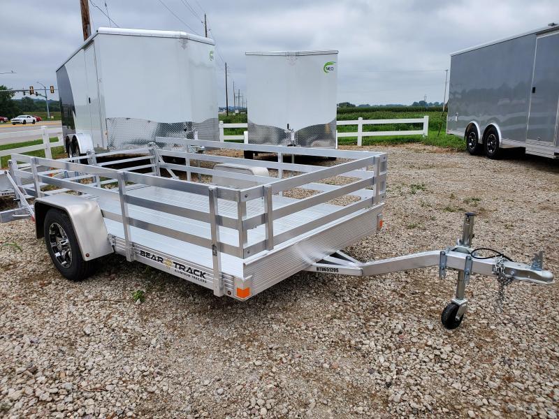 2021 Bear Track 65x10 Single Axle Aluminum Utility Trailer