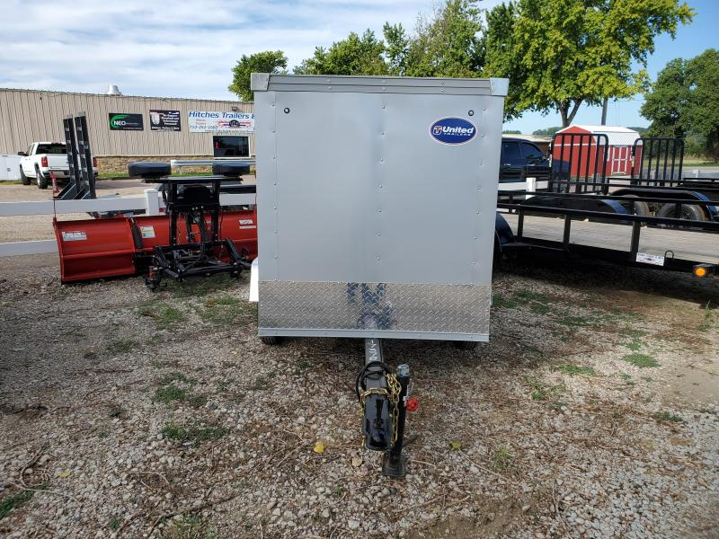 2021 United Trailers 4x6 Single Axle Enclosed Cargo Trailer