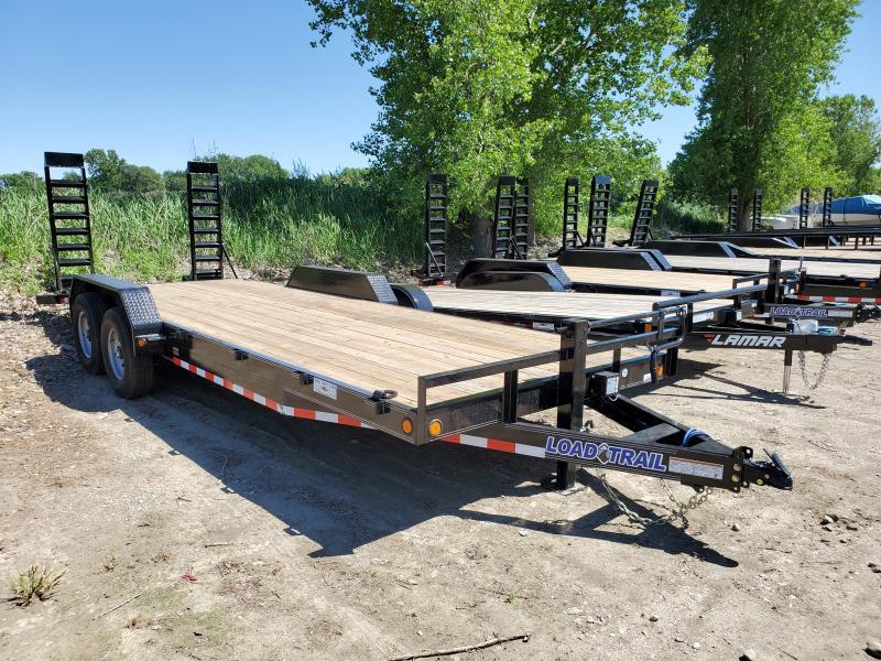 2020 Load Trail 83x22 Tandem Axle Carhauler Equipment Trailer