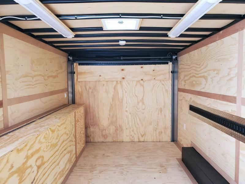 2021 United Trailers 8.5X16 TANDEM AXLE CONTRACTOR Enclosed Cargo Trailer