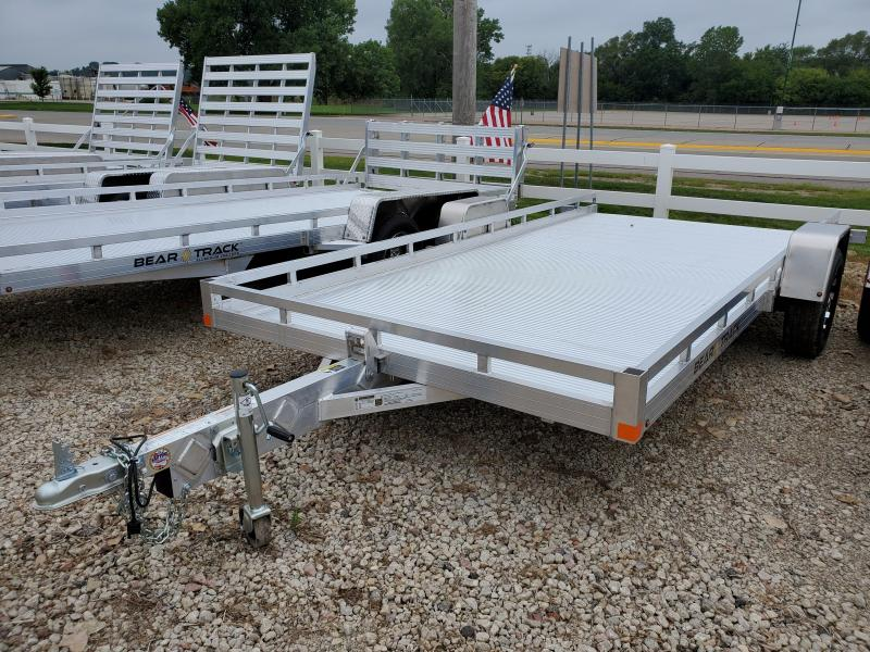 2021 Bear Track 81x14 Single Axle Aluminum Tilt Utility Trailer