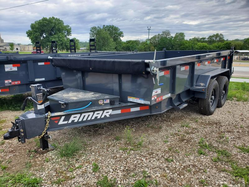"2021 Lamar Trailers 83""X14' TANDEM LOW-PRO Dump Trailer"