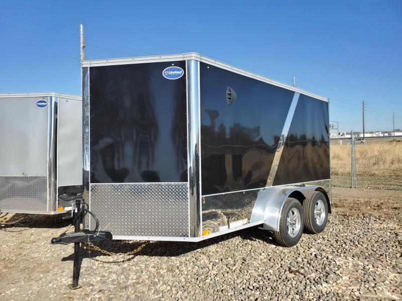 2021 United Trailers 7x12 Tandem Axle Enclosed Cargo Trailer