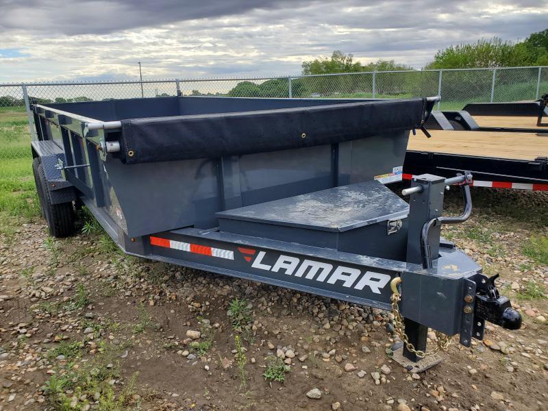 "2021 Lamar Trailers 83""X16' TANDEM LOW-PRO Dump Trailer"
