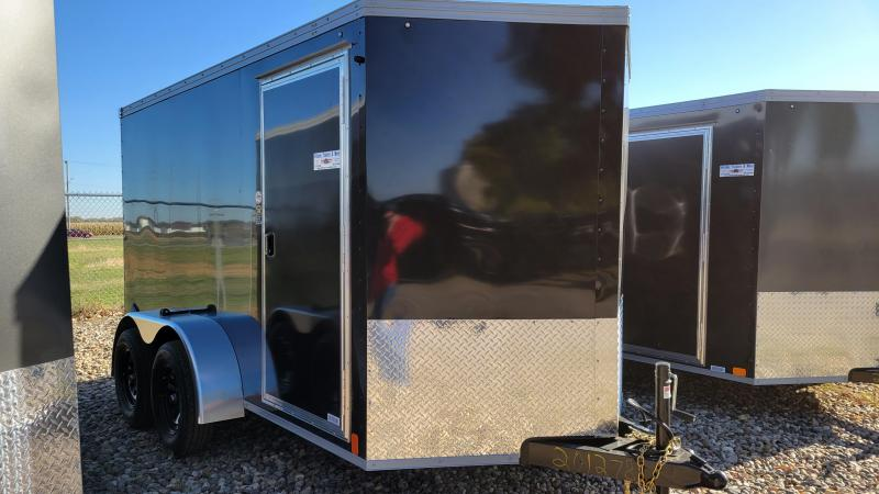 2022 United Trailers 6x12 Tandem Axle Enclosed Cargo Trailer