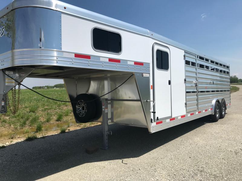 2020 Exiss STC 8024 4 pen w/ Cut gate stock Livestock Trailer