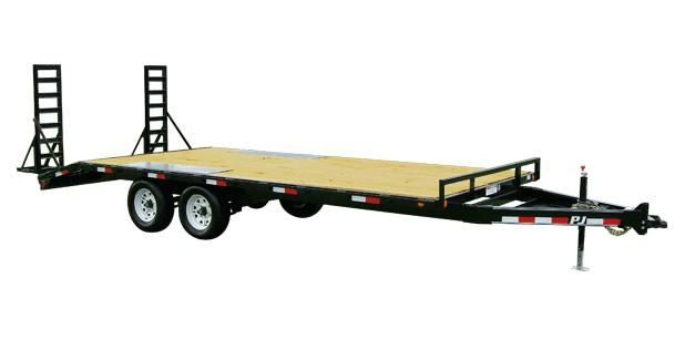 2018 PJ Trailers 20' Medium Duty Deckover 6 in. Channel (L6) Flatbed Trailer