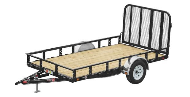"2021 (U7-12) PJ Trailer BP 12'x77"" Sngl Axle Channel Utility"