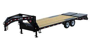 2019 PJ Trailers 30' GN Low-Pro Flatdeck with Singles (LS) Flatbed Trailer
