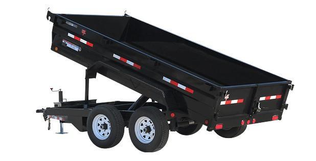 "2020 PJ Trailers 12'X72"" Tandem Axle Dump (D3) Dump Trailer"