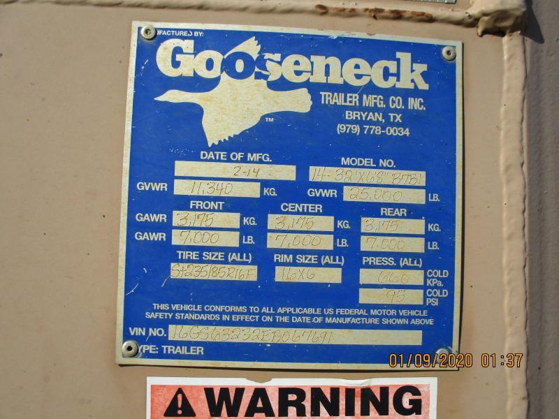 2014 Gooseneck STOCK Livestock Trailer