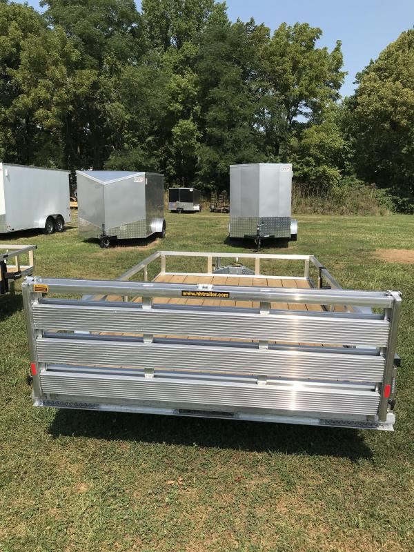 2020 H and H Trailer 82x12 Aluminum Rail Side Utility