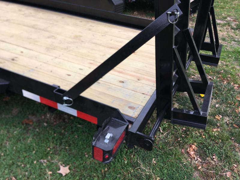 2021 Sure-Trac ST8018AE-B-140 Skid Steer Equipment Trailer