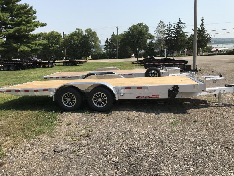 2020 H and H Trailer 82x20 Electric Aluminum Speedloader 10K Car / Racing Trailer