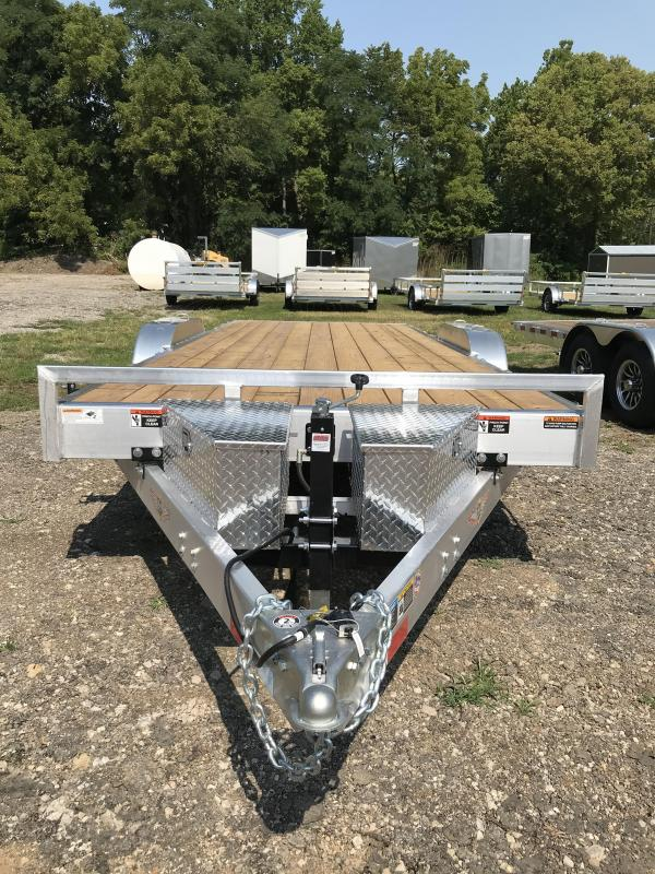 2020 H and H Trailer 82x20 Electric Aluminum Speedloader 10K Car / Racing Trailer